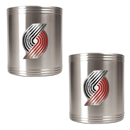 Portland Trailblazers NBA Stainless Steel Can Holder 2-Piece Set