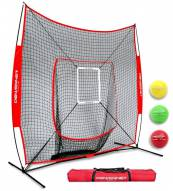 PowerNet DLX 2.0 Baseball Softball Hitting Net System w/ 3 Progressive Weighted Balls