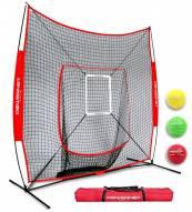 PowerNet DLX 2.0 Baseball Softball Hitting Net System w/ 3 Progressive Weighted Balls