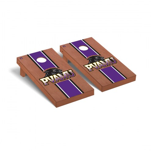 Prairie View A&M Panthers Rosewood Stained Stripe Cornhole Game Set