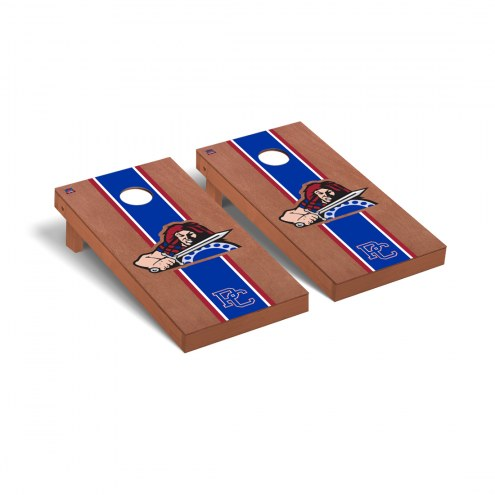 Presbyterian Blue Hose Rosewood Stained Stripe Cornhole Game Set