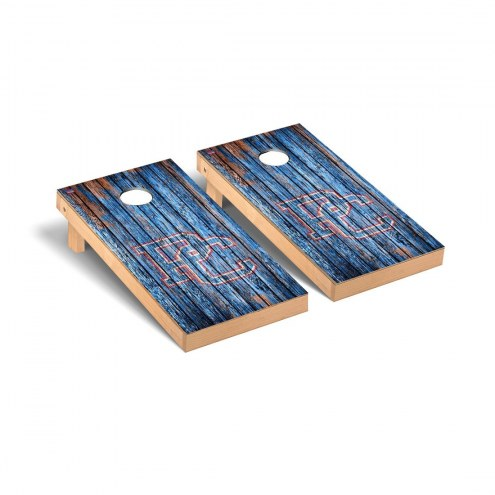 Presbyterian Blue Hose Weathered Cornhole Game Set