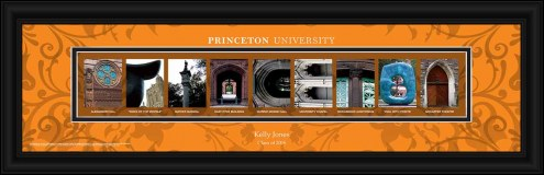 Princeton Tigers Personalized Campus Letter Art