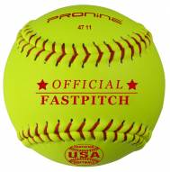 "Pro Nine 11"" Leather Official USA NFHS Fastpitch Softballs - Dozen"