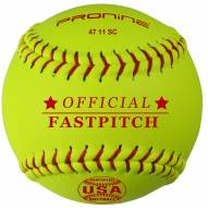 """Pro Nine 11"""" Synthetic USA Poly Core Official Fastpitch Softballs - Dozen"""