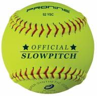"Pro Nine 12"" 52 COR Synthetic Slowpitch Softballs - Dozen"