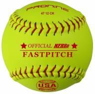 "Pro Nine 12"" Leather Official USA NFHS Cork Core Fastpitch Softballs - Dozen"