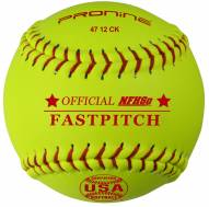 "Pro Nine 12"" Leather Official USA NFHS Cork Core Fastpitch Softballs - Dozen"