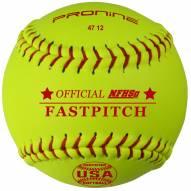 "Pro Nine 12"" Leather Official USA NFHS Poly Core Fastpitch Softballs - Dozen"