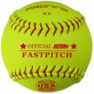 "Pro Nine 12"" Leather Official USA NFHS Poly Core Fastpitch Softballs - Dozen"