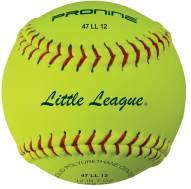"Pro Nine 12"" Little League Leather Fastpitch Softballs - Dozen"