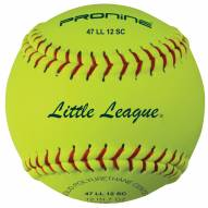"Pro Nine 12"" Little League Synthetic Fastpitch Softballs - Dozen"