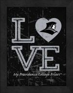 Providence Friars Love My Team Vertical Color Wall Decor