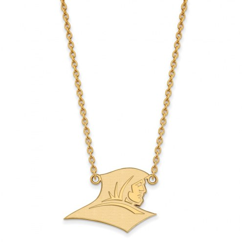 Providence Friars Sterling Silver Gold Plated Large Pendant Necklace
