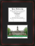 The Pennsylvania State University Diplomate Framed Lithograph with Diploma Opening