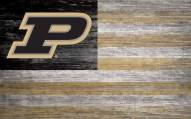 """Purdue Boilermakers 11"""" x 19"""" Distressed Flag Sign"""