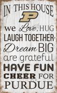 """Purdue Boilermakers 11"""" x 19"""" In This House Sign"""
