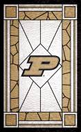 """Purdue Boilermakers 11"""" x 19"""" Stained Glass Sign"""
