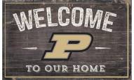 """Purdue Boilermakers 11"""" x 19"""" Welcome to Our Home Sign"""