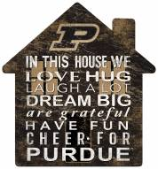 """Purdue Boilermakers 12"""" House Sign"""