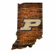 """Purdue Boilermakers 12"""" Roadmap State Sign"""
