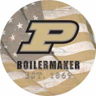 """Purdue Boilermakers 12"""" Team Color Flag Circle Sign"""