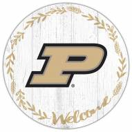"""Purdue Boilermakers 12"""" Welcome Circle Sign"""