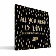 """Purdue Boilermakers 12"""" x 12"""" All You Need Canvas Print"""