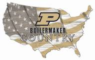 """Purdue Boilermakers 15"""" USA Flag Cutout Sign"""