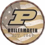 """Purdue Boilermakers 16"""" Flag Barrel Top"""