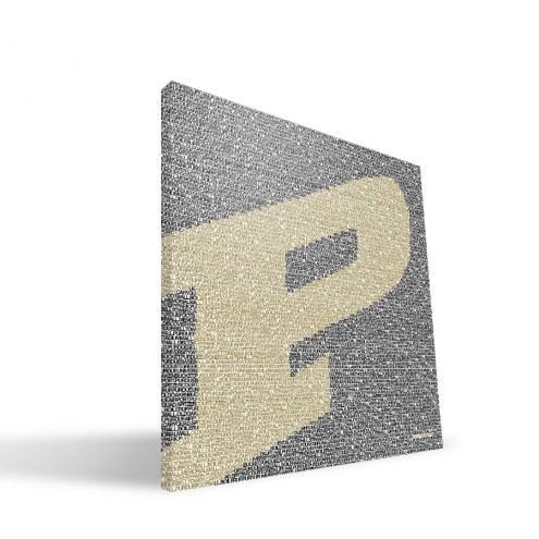 "Purdue Boilermakers 16"" x 16"" Typo Canvas Print"