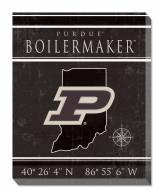 "Purdue Boilermakers 16"" x 20"" Coordinates Canvas Print"