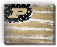 "Purdue Boilermakers 16"" x 20"" Flag Canvas Print"