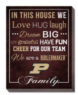 """Purdue Boilermakers 16"""" x 20"""" In This House Canvas Print"""