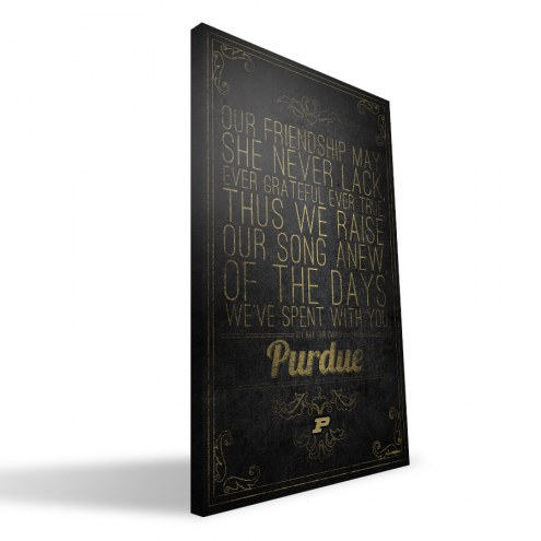 "Purdue Boilermakers 16"" x 24"" Song Canvas Print"