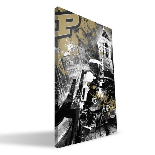 "Purdue Boilermakers 16"" x 24"" Spirit Canvas Print"