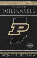 "Purdue Boilermakers 17"" x 26"" Coordinates Sign"
