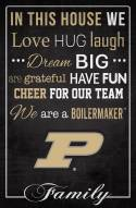 """Purdue Boilermakers 17"""" x 26"""" In This House Sign"""