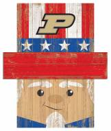 "Purdue Boilermakers 19"" x 16"" Patriotic Head"