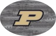 """Purdue Boilermakers 46"""" Distressed Wood Oval Sign"""