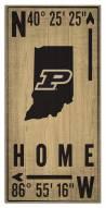 "Purdue Boilermakers 6"" x 12"" Coordinates Sign"