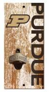 "Purdue Boilermakers 6"" x 12"" Distressed Bottle Opener"