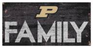 """Purdue Boilermakers 6"""" x 12"""" Family Sign"""