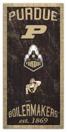 "Purdue Boilermakers 6"" x 12"" Heritage Sign"
