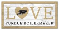 "Purdue Boilermakers 6"" x 12"" Love Sign"