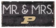 """Purdue Boilermakers 6"""" x 12"""" Mr. & Mrs. Sign"""