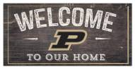 """Purdue Boilermakers 6"""" x 12"""" Welcome Sign"""