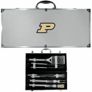 Purdue Boilermakers 8 Piece Stainless Steel BBQ Set w/Metal Case