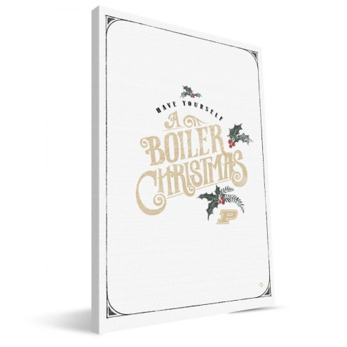 "Purdue Boilermakers 8"" x 12"" Merry Little Christmas Canvas Print"