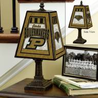 Purdue Boilermakers Art Glass Table Lamp